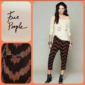 Free People Twisted Ikat Harem pants